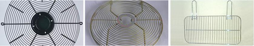 custom finishes for fan guards, fan motor mounts & wire griles